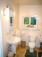 bathroom of mendocino cottage